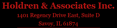 Holdren & Associates Inc. 1401 Regency Drive East, Suite D. Savoy, IL 61874