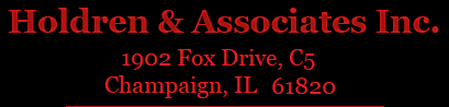 Holdren & Associates Inc. 1902 Fox Drive, C5, Champaign, IL 61820